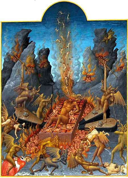 Una ilustración que permite hacerse una idea de lo que es el infierno