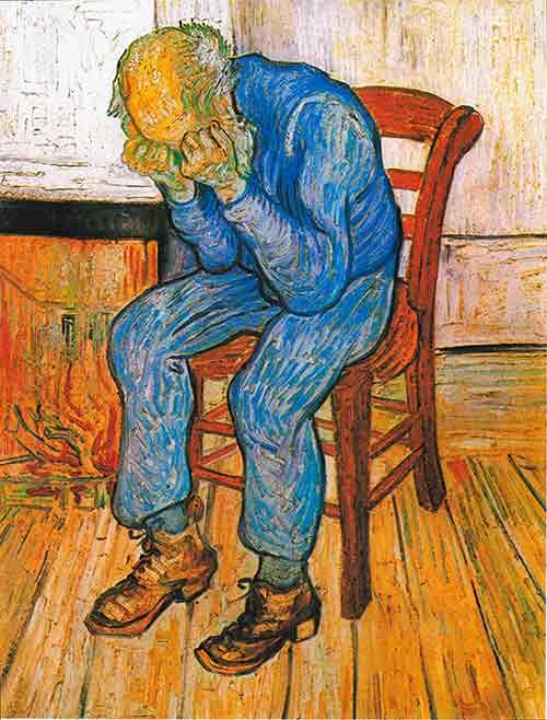 El hombre afligido - van Gogh - A las puertas de la eternidad