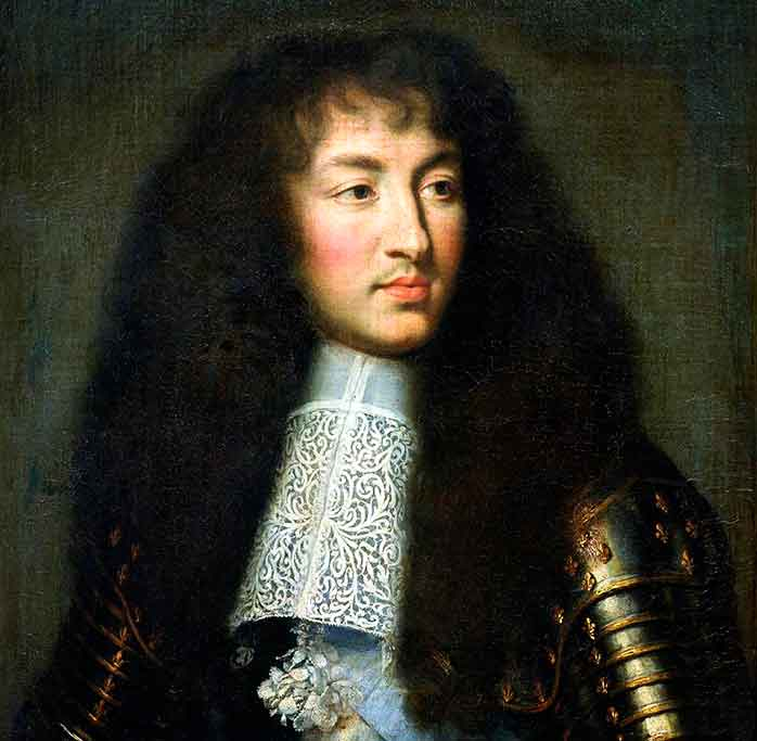 El Rey Luis XIV de joven. Charles Le Brun