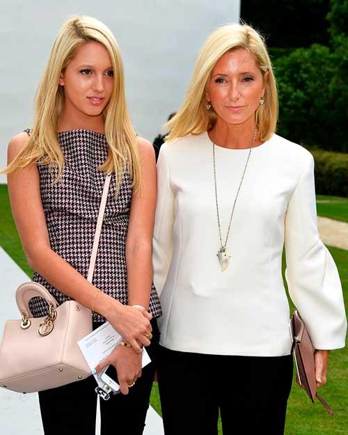 La Princesa Marie-Chantal de Grecia con su hija María Olimpia de Grecia