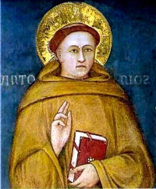 San Antonio de Padua atribuído a Giotto di Bondonne