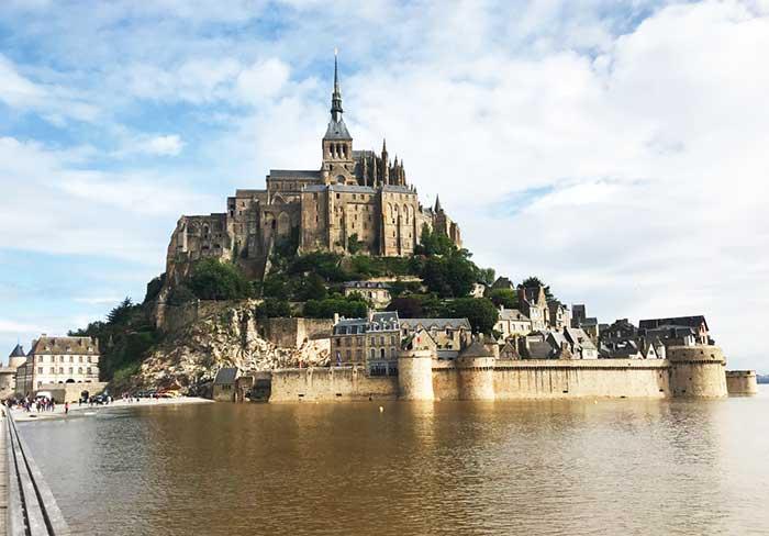 Mont Saint Michel, una de las joyas de la arquitectura medieval.