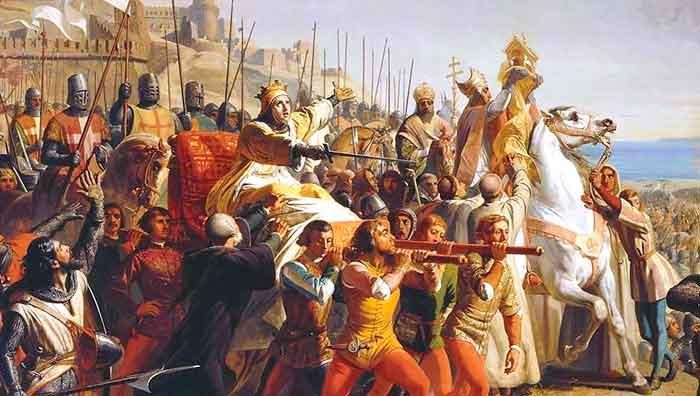El Rey leproso, Balduino IV, dirige triunfalmente el ataque contra Saldino