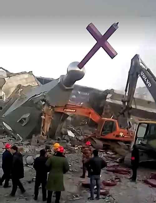 Una muestra de la demolición de las iglesias en China