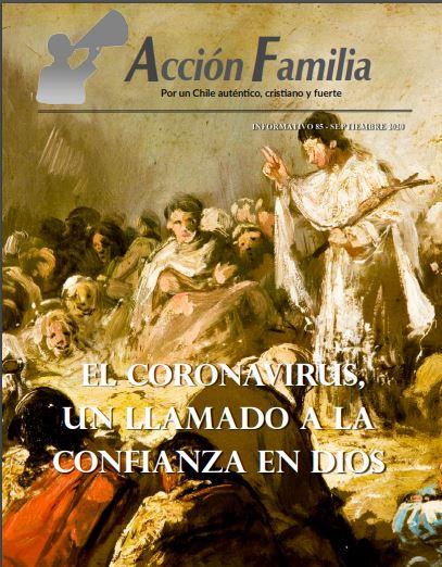 Acción Familia: Portada del Informativo 85 de Septiembre de 2020