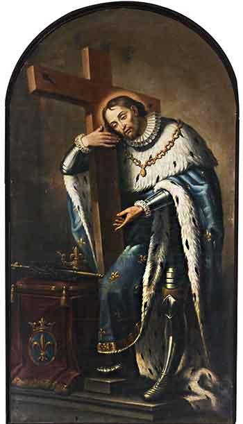 San Luis IX, rey de Francia, confesor de la fe, cruzado y  modelo de jefe de Estado católico